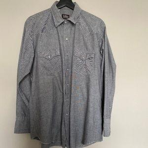 Shirts Mens Western Shirt Pearl Snap Buttons 16 12 34